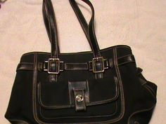 'Etienne Aigner Black Purse/Handbag Nice' is going up for auction at  5pm Sat, May 18 with a starting bid of $7.
