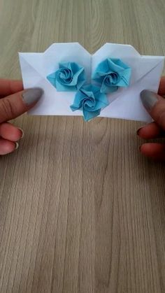 on Paper Crafts Ideas [Video] in 2020 Diy Origami, Origami Simple, Origami Tutorial, Origami Butterfly, Origami Flowers, Paper Folding Crafts, Paper Crafts Origami, Paper Crafts For Kids, Diy Crafts Hacks