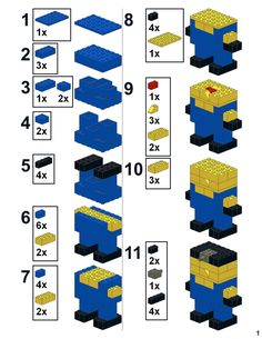 Instructions to build my Pick a Brick Despicable Me Minion, using parts only found on the LEGO brand retail store's Pick a Brick wall.  Your mileage may vary.