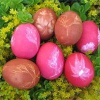Leaf Design Easter Eggs-instructions