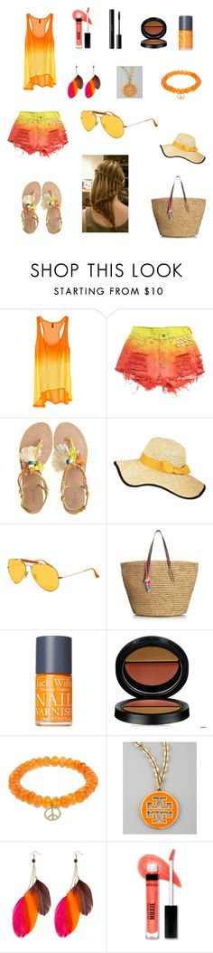 """On the beach"" by olivia-oly ❤ liked on Polyvore featuring H&M, Levi's, Radà, Hat Attack, Ray-Ban, Juicy Couture, Jack Wills, GAB, Sydney Evan and Tory Burch"
