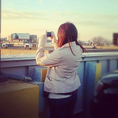 Me taking a picture of this lovely city.
