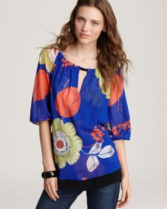 Quotation: Sweet Pea Three Quarter Sleeve Top - Ruched Neckline | Bloomingdale's