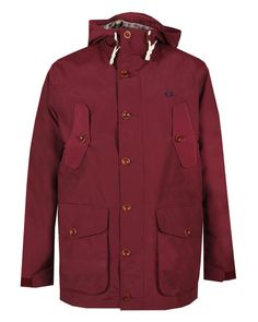 FRED PERRY AUTHENTIC Mens Red MOUNTAIN PARKA main image