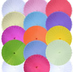 """32/"""" Bridal Wedding Shower mixed colors roses UMBRELLA PARASOL"""