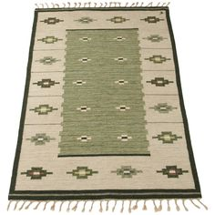 Erik Lundberg Flat-Weave | From a unique collection of antique and modern russian and scandinavian rugs at https://www.1stdibs.com/furniture/rugs-carpets/russian-scandinavian-rugs/