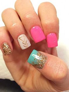 Cute Square Acrylic Nails