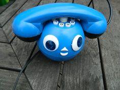 Lovely blue nursery room Cheburashka telephone from by RETROisIN