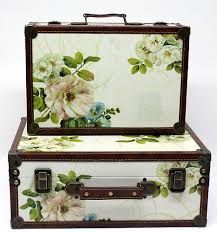 Image result for shabby chic suitcase