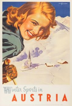 living in colorado...vintage ski posters are a must!