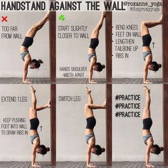 "1,886 mentions J'aime, 20 commentaires - Roxanne Gan (@roxanne_yoga) sur Instagram : ""Handstand against the wall The wall is a great friend in helping you deal with the fear of falling,…"""