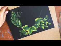 One Stroke Painting- Pink Flowers on Leaf Base - YouTube