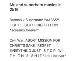 That's because I feel a more deep and emotional conception with Marvel characters than DC Marvel Show, Marvel Avengers, Marvel Characters, Marvel Movies, Very Funny Gif, Superhero Movies, Batman Vs, Dc Heroes, Book Fandoms
