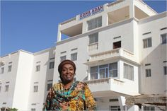 Edna Adan in front of her maternity hospital in Somaliland. Click through to read an Off The Sidelines exclusive Q&A with this champion of women's health.