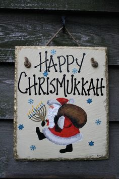 Happy Chrismukkah Christmas Hanukkah hand by HollysHauntedCottage