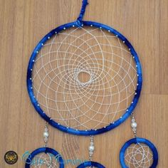 Filtro dos sonhos Azul royal com LED. www.belacharmosa.com