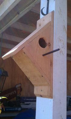 Bird house...from one piece of dog ear picket fence board from your local Home Depot/Lowes for about $2.55 each measuring 5/8 in. x 5 1/2 in. x 6 ft.