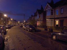 Mickleton Road at Winter Dusk UK 3