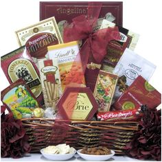 Great Arrivals Gourmet Traditions Gift Basket, Red
