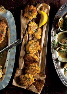 Tortillitas de Camarones (Shrimp Fritters) – made with chickpea flour, mmm.