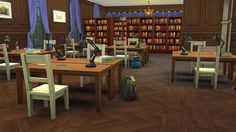 Sims In Spring: Public Library Upstairs – room • Sims 4 Downloads  Check more at http://sims4downloads.net/sims-in-spring-public-library-upstairs-room/