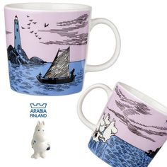 Britain: There is no bar code seal with the rare thing, new article, tag, and it is to a vanity case of sailing (ARABIA FINLAND Night Sailing) iittala in the Arabian /ARABIA Mumin mug cup night. News Articles, Mug Cup, Finland, Britain, Seal, Sailing, Vanity, Coding, Mugs
