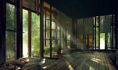 The Art of Freddie Niem Japanese House, Japanese Art, Fantasy Landscape, Landscape Art, Chinese Architecture, Environment Concept Art, Anime Scenery, Landscape Illustration, Fantasy Places