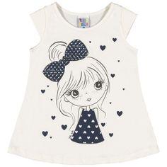 Fashion Kids, Shirts For Girls, Kids Shirts, Girly Outfits, Kids Outfits, Girls Pajamas, Prints, Cotton, Clothes