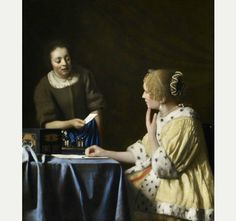 Mistress and Maid by Johannes Vermeer