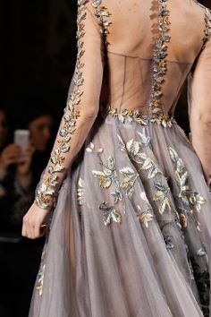 Valentino Couture S/S 2014. Adam and Eve embroidery.