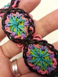 Kaleidoscope Rainbow Loom Bracelet Tutorial, @Sarah Chintomby Chintomby McCann need your loom for this.