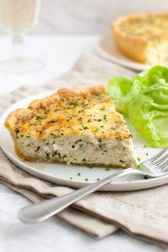 Crab Quiche- creamy custard dotted with lumps of crab meat that is perfectly seasoned thanks to all the fresh herbs. A thin and buttery crust adds a nice bite to this savory quiche. Crab Recipes, Quiche Recipes, Brunch Recipes, Breakfast Recipes, Dinner Recipes, Brunch Ideas, Egg Recipes, Salmon Recipes, Appetizer Recipes