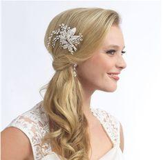 Robe de Mariage Cheveux Bijoux Ornement Frontal front chaîne avec des épingles à cheveux B3