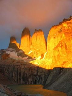Lever de soleil sur Las Torres