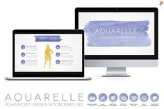 Aquarelle Powerpoint Template by Blixa 6 Studios on @creativemarket