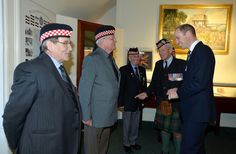 Prince William Photos Photos - Prince William, Duke of Cambridge meets with retired servicemen during a visit to Stirling Castle on October 24, 2016 in Stirling, Scotland.  The Duke of Cambridge in his role as Earl of Strathearn is Patron of The Thin Red Line Appeal to redevelop The Argyll and Sutherland Highlanders Regimental Museum at the Castle. - Duke Of Cambridge Visits Stirling Castle