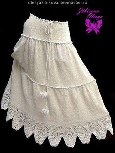 """Купить Вязаная велюровая юбка """"Эльфийская сказка"""" - вязаная юбка, Машинное вязание, Вязание крючком"""