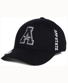 Top of the World Appalachian State Mountaineers Black White Booster Cap
