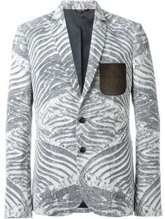 Shop Roberto Cavalli zebra print blazer  in Elite from the world's best independent boutiques at farfetch.com. Shop 400 boutiques at one address.