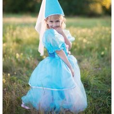 Children's dress up at its finest. Variety of sizes, designs and matching accessories. Little Girl Dresses, Girls Dresses, Blue Tulle Skirt, Princess Hat, Complete Outfits, Playing Dress Up, Frocks, Tutu, Fairy Tales
