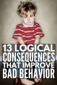 Enforcing logical consequences is a fabulous way for teachers to encourage good classroom behavior and parents to get kids to behave without yelling, and we're sharing 13 logical consequences that actually work! Classroom Behavior, Kids Behavior, Behavior Consequences, Child Behavior Problems, Parenting Advice, Kids And Parenting, Parenting Quotes, Foster Parenting, Parenting Styles