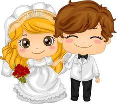 just married motorbike clipart Bride And Groom Cartoon, Wedding Couple Cartoon, Custom Wedding Cake Toppers, Wedding Topper, Cartoon Kids, Girl Cartoon, Wedding Wishes Messages, Wedding Cards, Wedding Invitations