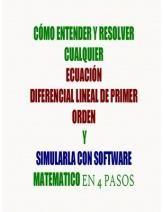 PARA LOS ESTUDIANTES DE CIENCIAS. VERSIÓN EXTENDIDA DEL MÉTODO DE 4 PASOS PARA RESOLVER EDO LINEALES DE PRIMER ORDEN QUE INCLUYE CÓMO SIMULARLAS CON MATHEMATICA Y/O SAGE. ADEMÁS, INCLUYE LA EXPLICACIÓN DE CÓMO SE RELACIONA ESTE MÉTODO CON LAS ECUACIONES DIFERENCIALES EXACTAS, CON LO QUE SE TIENDE UN PUENTE PARA CONTINUAR CON EL ESTUDIO DE ESTA MATERIA PARTIENDO DE UNA METODOLOGÍA SÓLIDA PARA DOMINAR EL TEMA.