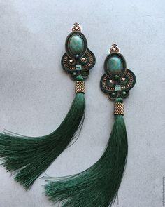 Photo from keytstone Soutache Pendant, Soutache Earrings, Bead Earrings, Statement Earrings, Tassel Earrings, Artisan Jewelry, Handcrafted Jewelry, Earrings Handmade, Witch Jewelry