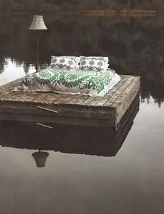A whole new meaning to waterbed.