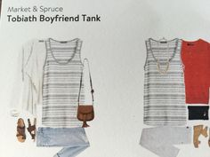 Market & Spruce Tobiath Boyfriend Tank, Stitch Fix - softest, most flattering tank! Surprised by how easily this piece can be dressed up or down. Also, love that the arm holes are modestly cut considering it's boyfriend style. Happy to own this!