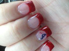 Houston Texans nails! Gotta do these for sure!