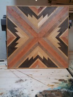 Wood Wall Art chevron wood wall art wood art sculpture reclaimed wood | paints