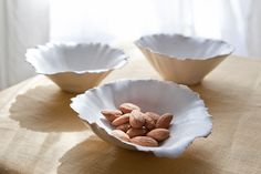 Matte White Medium Seashell-like Bowls. $14.00, via Etsy.