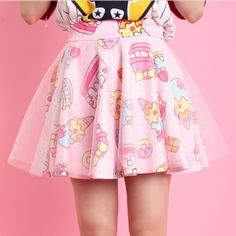 Cute cake donuts double gauze tutu skirts shorts tees suit sold by Cute Kawaii {harajuku fashion}. Shop more products from Cute Kawaii {harajuku fashion} on Storenvy, the home of independent small businesses all over the world. Harajuku Mode, Harajuku Fashion, Kawaii Fashion, Lolita Fashion, Cute Fashion, Asian Fashion, Harajuku Style, Fashion Styles, Boy Fashion